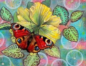 Бабочка. Размер - 51 х 39 см.