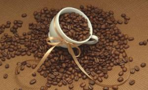 Кофейный бант. Размер - 61 х 38 см.