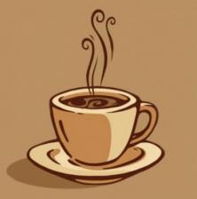Ваш кофе. Размер - 20 х 20 см.