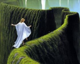 Зелёный лабиринт. Размер - 55 х 44 см.