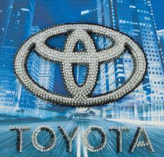Toyota. Размер - 15 х 15 см.