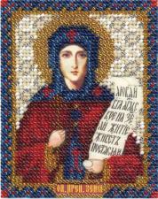 Икона Пр. Ксения. Размер - 8,5 х 10,5 см.