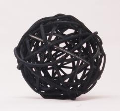 Ротанговый шар (чёрный). Размер - 7 см.