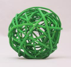 Ротанговый шар (зелёный). Размер - 7 см.