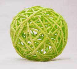 Ротанговый шар (светло-зелёный). Размер - 7 см.