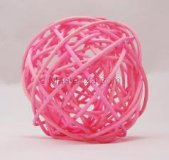 Ротанговый шар (светло-розовый). Размер - 7 см.
