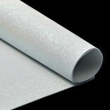 Глиттерный фоамиран (белый). Размер - 20 х 30 см.