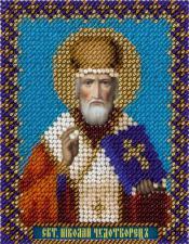 Икона Святитель Николай Чудотворец. Размер - 8,5 х 11 см.