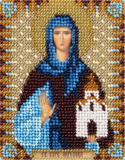 Икона Св. Прп. Ангелина Сербская. Размер - 8,5 х 11 см.