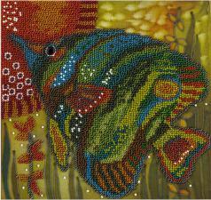Зелёная рыбка. Размер - 20 х 20 см.