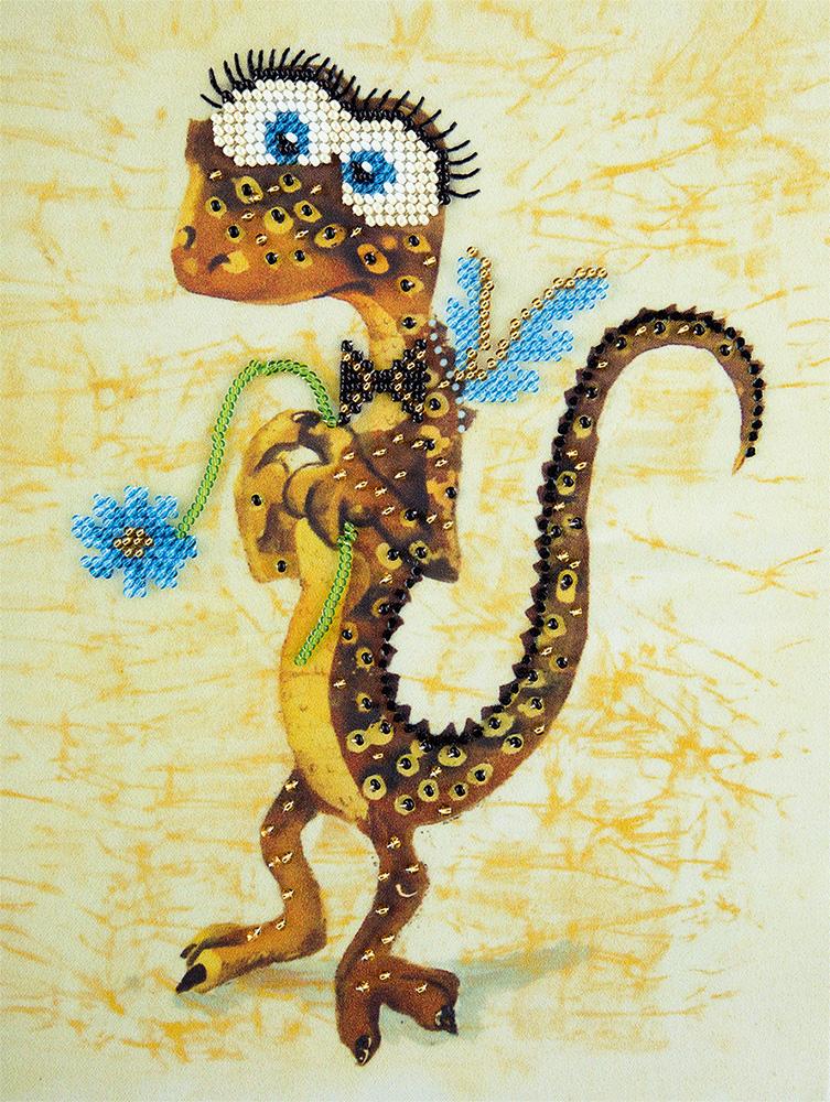 Марта для, открытка с ящерицей