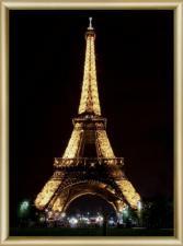 Эйфелева башня. Размер - 30,3 х 42 см.