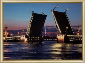 Дворцовый мост. Размер - 42 х 30,3 см.