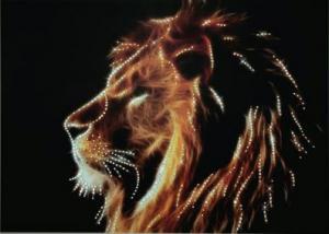 Царь зверей. Размер - 42 х 30,3 см.