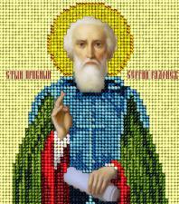 Святой Сергий Радонежский. Размер - 9,8 х 11 см.