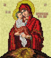 Икона Почаевская. Размер - 9,8 х 11 см.