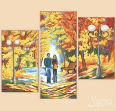 Осенняя палитра. Полиптих из 3-х частей.