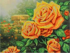 Жёлтые розы. Размер - 35 х 28 см.