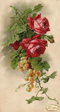 Розы и виноград. Размер - 24 х 45 см.