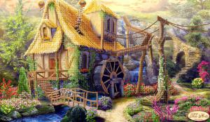 Сказочный домик. Размер - 40 х 24 см.