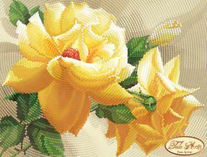Роза флорибунда. Размер - 22 х 17 см.