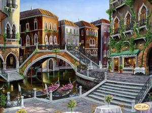 Венецианскими улочками. Размер - 40 х 30 см.