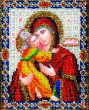 Икона Владимирской Божией Матери. Размер - 9 х 11 см.
