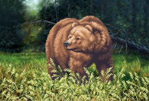 Медведь. Размер - 39 х 27 см.