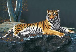 Ночной тигр. Размер - 39 х 27 см.