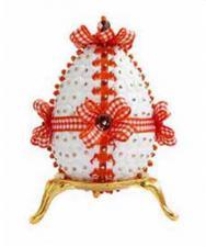 """Декоративное яйцо """"Осенний бантик""""."""