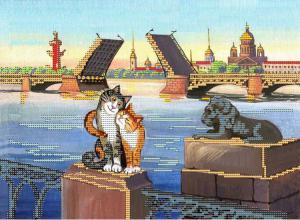 Питерские коты 3. Размер - 30 х 21 см.