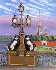 Питерские коты 1. Размер - 21 х 30 см.