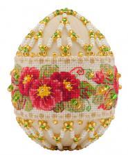 """Яйцо пасхальное """"Примула"""". Размер - 6 х 4,5 см."""