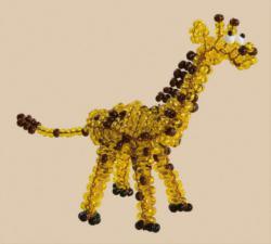 Солнечный жирафик. Размер - 9 х 9 см.