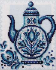 Синие лепестки. Размер - 18 х 21,5 см.