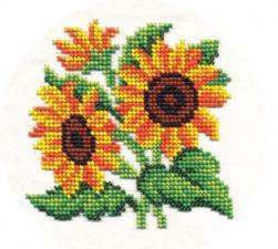 Цветы солнца. Размер - 13 х 13 см.