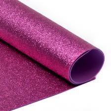 Глиттерный фоамиран (ярко-розовый). Размер - 20 х 30 см.