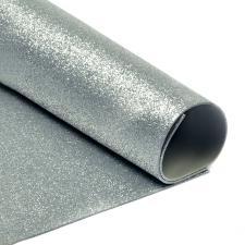 Глиттерный фоамиран (серебряный). Размер - 20 х 30 см.