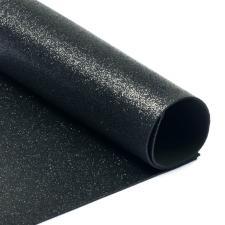 Глиттерный фоамиран (чёрный). Размер - 20 х 30 см.