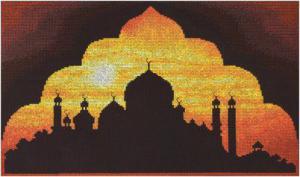 Мечеть на закате. Размер - 37 х 24 см.