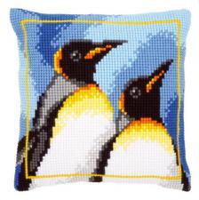 Королевские пингвины. Размер - 40 х 40 см.