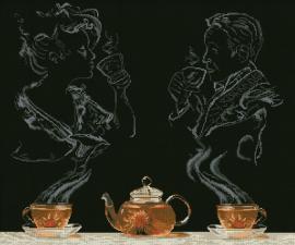 Чайная фантазия. Размер - 54,5 х 45,3 см.