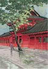 Красная пагода. Размер - 26 х 38 см.