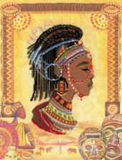 Африканская принцесса. Размер - 30 х 40 см.