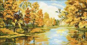 Тихая осень. Размер - 41 х 23 см.