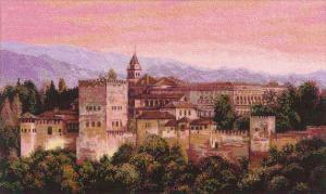 Альгамбра. Размер - 50 х 30 см.