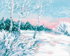 Зимнее утро. Размер - 30 х 24 см.