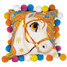 "Подушка ""Златогривая лошадка"". Размер - 30 х 30 см."