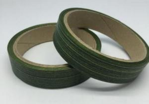 Лента Аспидистра (зелёный с тиснением). Ширина 2 см.