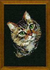 Пестрый кот. Размер - 21х30 см